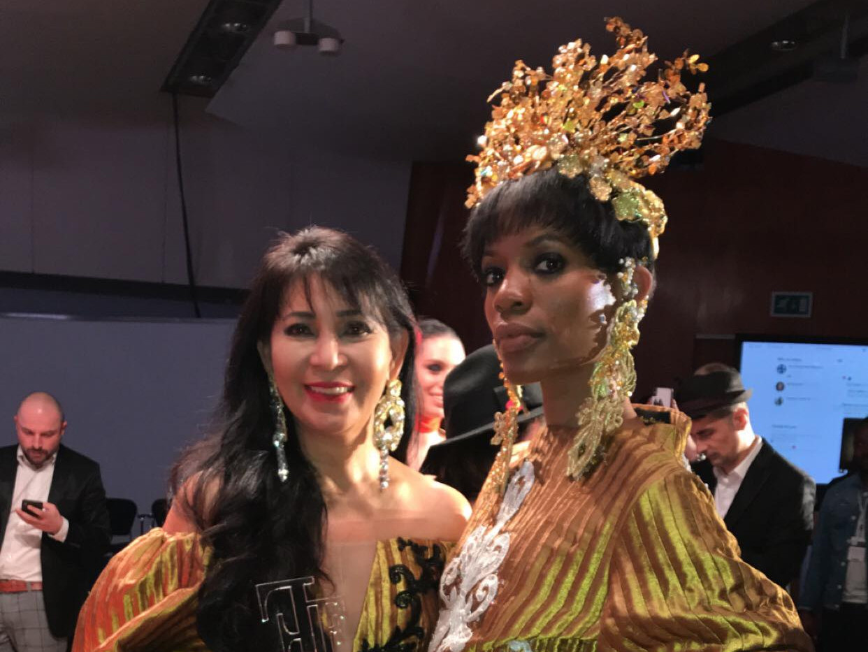 Ms. Joyce and her finale Model