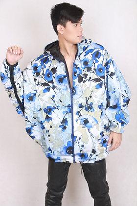 Oversized Mens Bomber Floral Jacket