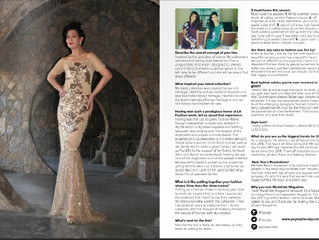 Joyce Penas Pilarsky featured in Modeliste Magazine Labels We Love section