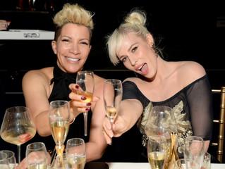 Hitmaker Natasha Bedingfield attends the star-studded champagne dinner wearing Joyce Penas Pilarsky