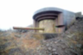 Rauøy_fort,_15cm_kanon_i_frittstående_ka