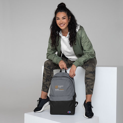 FinFit Life - Embroidered Champion Backpack