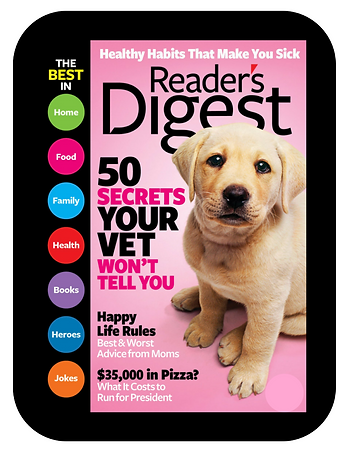 cover of readers digest magazin jennifer was featured in
