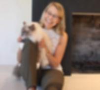 Jennifer Garrepy the Pet Therapist with her cat