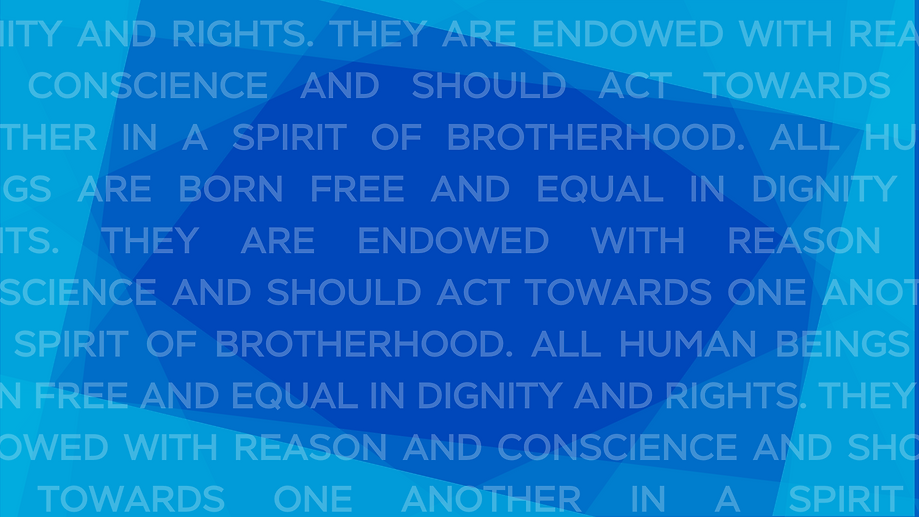 All human beings are born free and equal in dignity and rights. They are endowed with reas