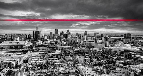 "Detroit Thin Red Line Canvas 16"" x 44"""