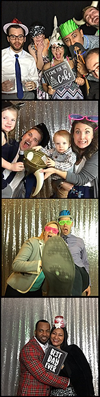 A photo booth strip from RipTide Productions.