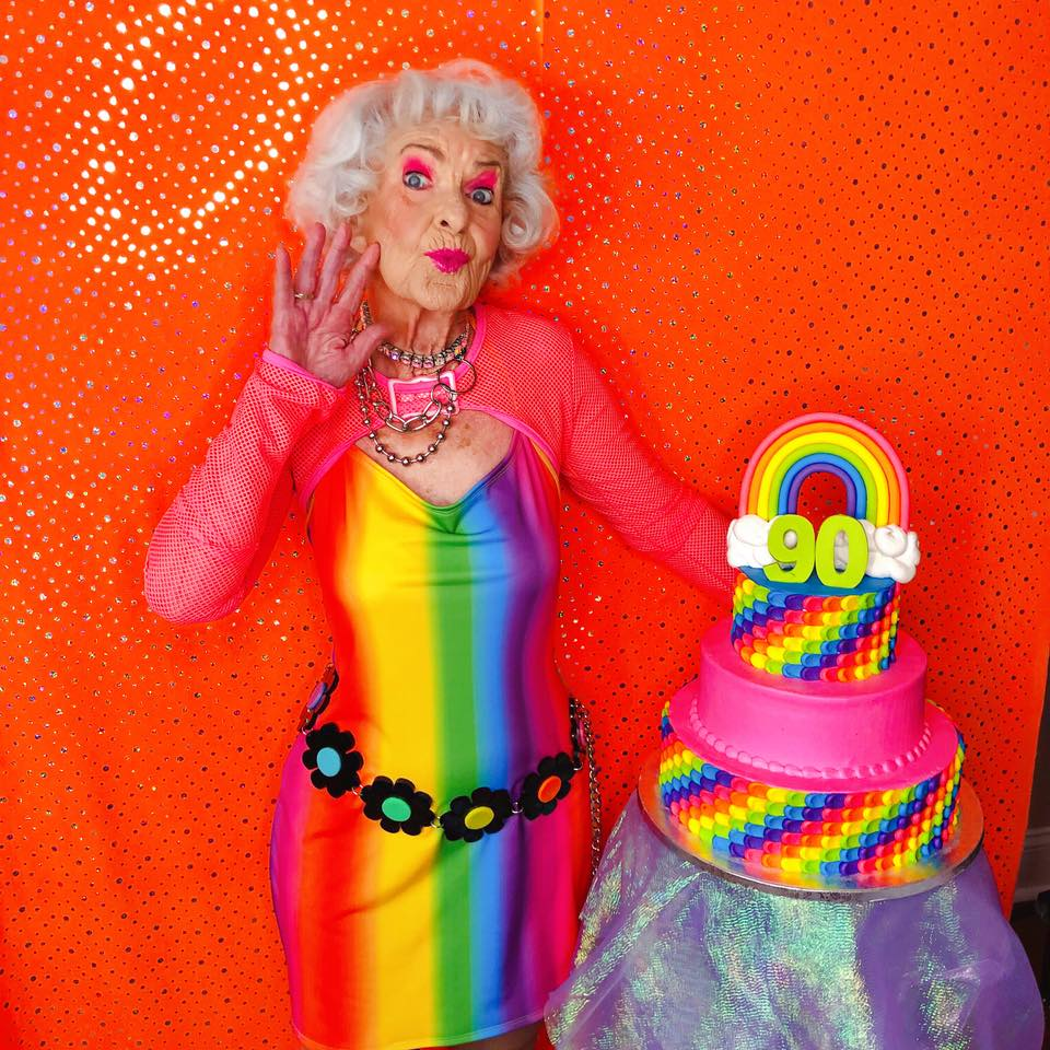 Baddie Winkle's 90th Birthday Photo Shoot