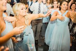 Kara Shepherd having a blast at her sister's reception at the Carrick House