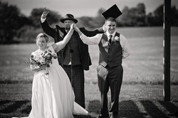Matt marrying an awesome couple at Talon Winery
