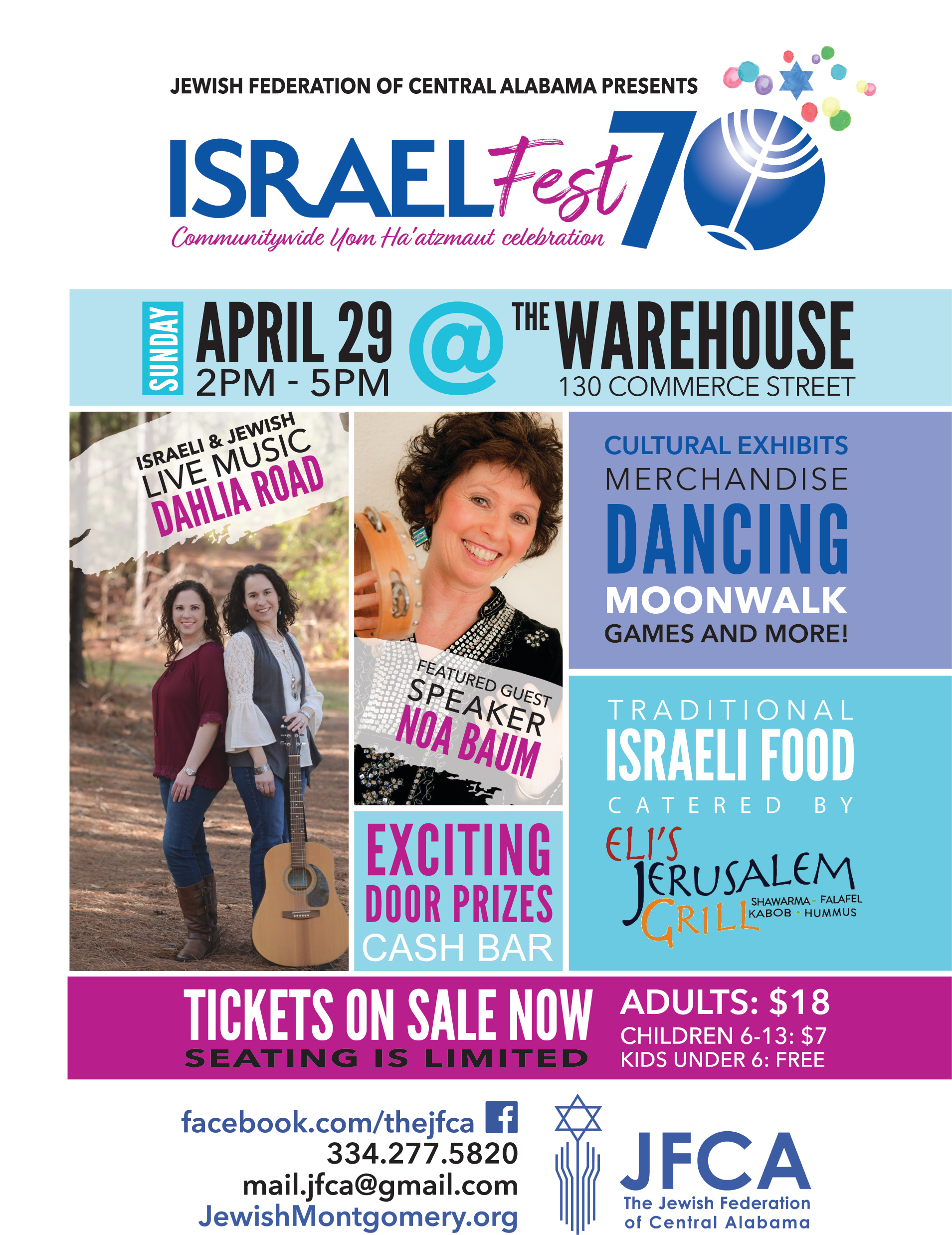 Israel Fest 70 Flyer