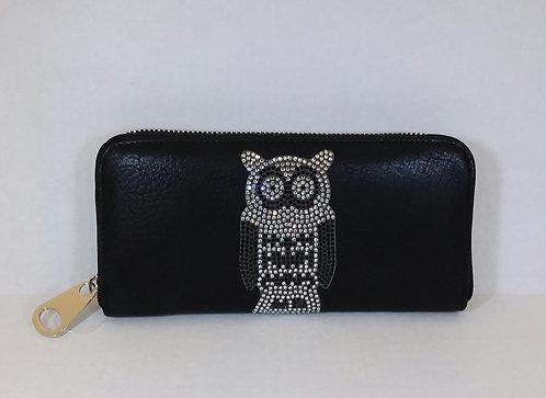 Rhinestone Owl Wallet