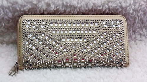 Gold Clutch with Rhinestones