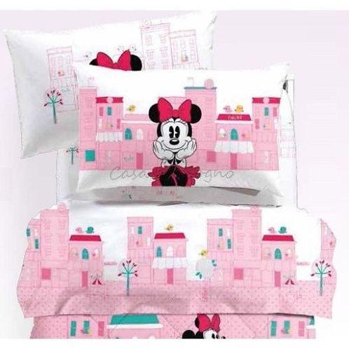 """Completo letto/lenzuola 1 piazza e mezza Caleffi Minnie mod.""""City"""""""