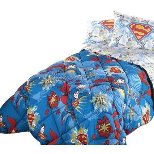 "Completo lenzuola singolo 1 p.za Caleffi mod.""Superman Dynamic"""
