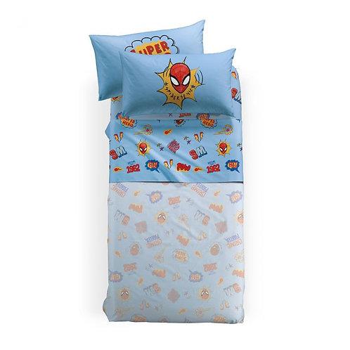 "Completo lenzuola singolo 1 piazza Caleffi mod. ""Spiderman New York""."