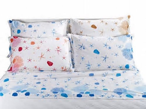 "Completo letto/lenzuola matrimoniale 2 piazze Caleffi mod.""Oceano"" vari colori"