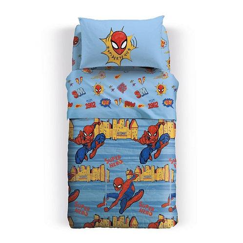 Trapuntino/Copriletto trapuntato 1 piazza e mezza Caleffi mod.Spiderman New York