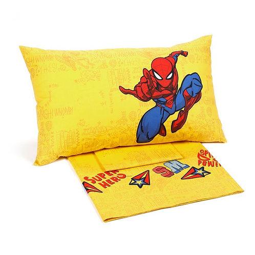 """Completo lenzuola 1 piazza e mezza Caleffi mod. """"Spiderman Hero""""."""