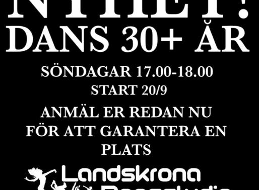 Missa inte vår nya dansklass, Dans 30+!