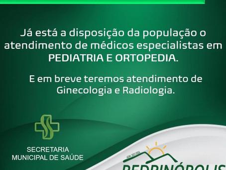 Comunicado Secretaria de Saúde de Pedrinópolis