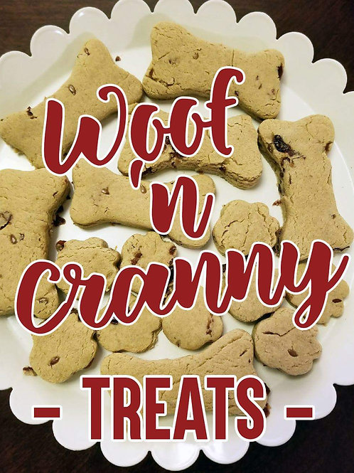 Woof 'n Cranberry biscuits