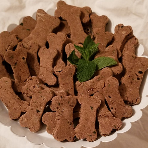 Carob Chip Mint dog treats