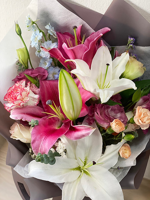 Freestyle Lilies Bouquet