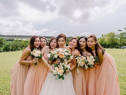 Bridesmaid Bouquet - Pastel Peach (Min. 4)