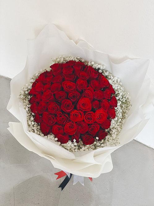 62 Stalks Red Roses