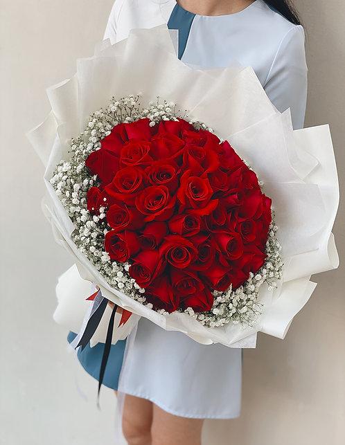 52 Stalks Red Roses