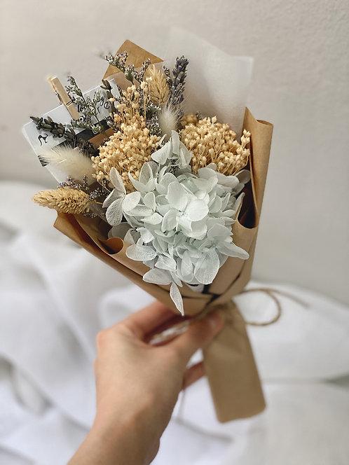 Petite Blue Preserved Hydrangeas Blooms