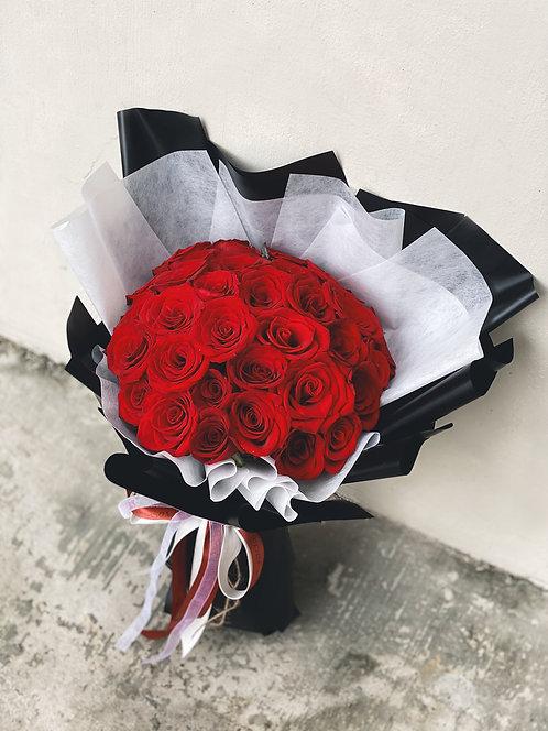 36 Stalks Red Roses