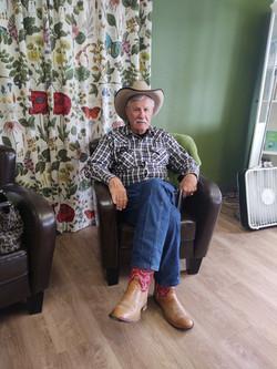 cowboy man lounge