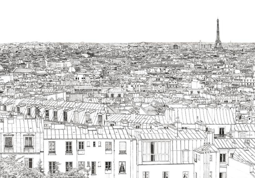 Oh-My-Wall-papier-peint-Vue-de-Paris-Invalides-Tour-Eiffel-Thomas-Lable-alias-Materz-