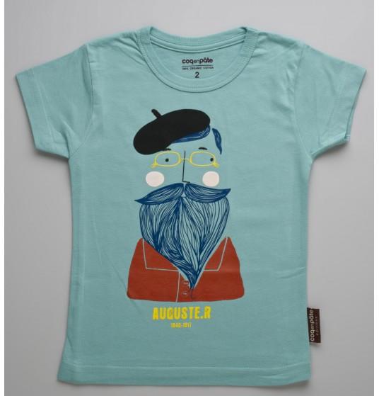 tee-shirt-enfant-auguste-rodin-bleu-vert