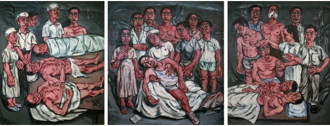 zeng_fanzhi_hospital_triptych_no.2