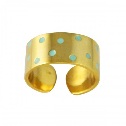Virginie Millefiori_polkadot ring gold mint