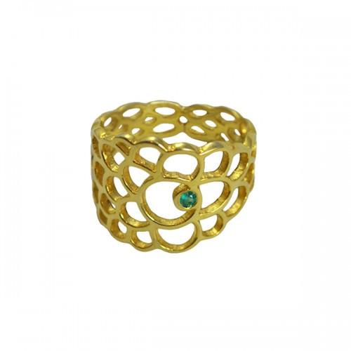 Virginie Millefiori_scallop ring gold diamond 600 _01