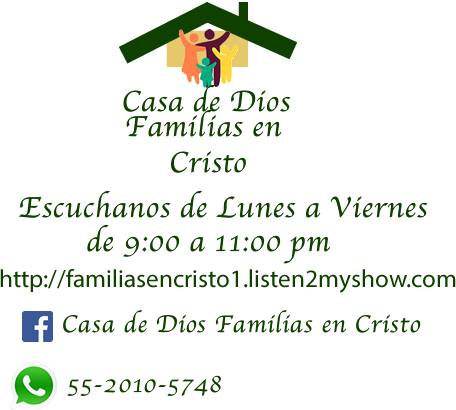 CASA DE DIOS FAMILIAS EN CRISTO