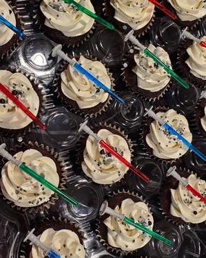 Light Saber Cupcakes Star Wars