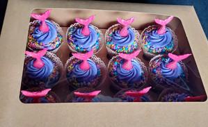 Pink Mermaid Cupcakes
