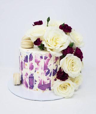 Purple cutting cake