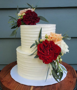 Fall wedding cake VT