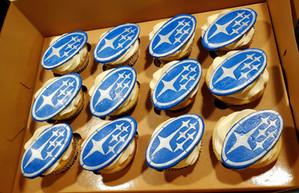 Subaru Cupcakes