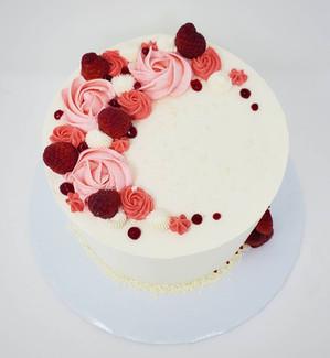 White Chocolate Raspberry Cake VT