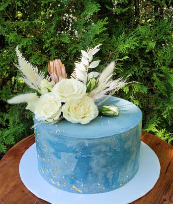 Boho wedding cake VT