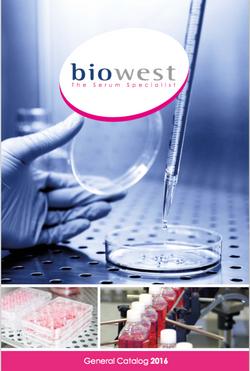 Biowest Catalog 2016