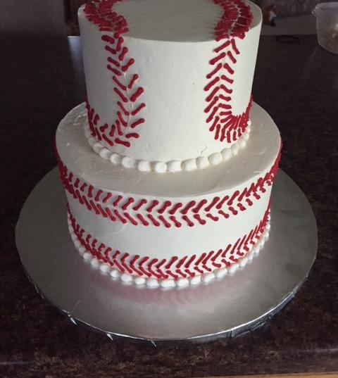 Baseball Themed Birthday Cake