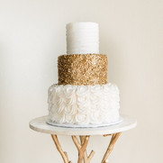 Gold Tiered Cake